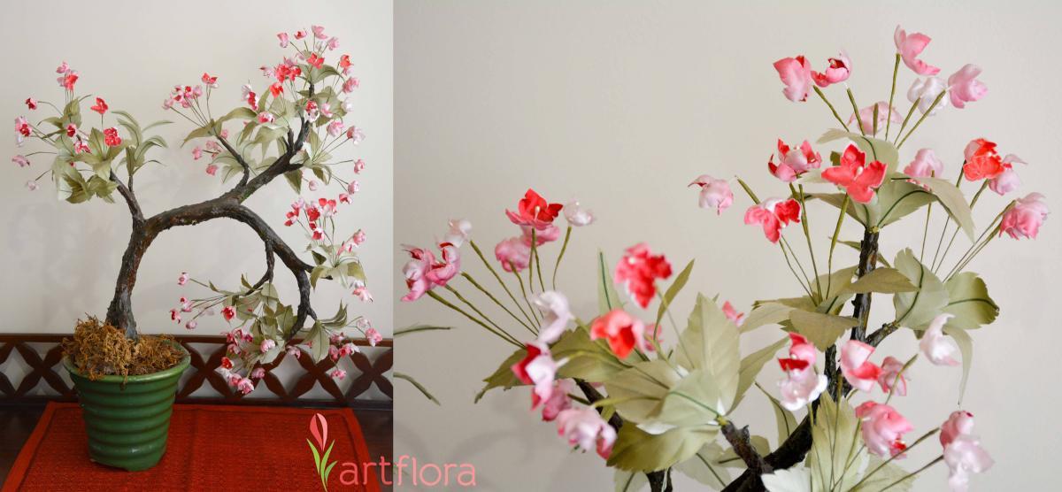 Pink Floral Bonsai Tree